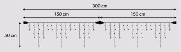 LED aizkars, 300*50 cm
