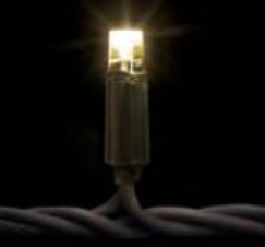 20m mazo spuldžu virtene, silti balta LED (bez starta kabeļa)